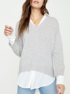V-NECK-LAYERED-PULLOVER JER2197 VAIL-GREY-MEL-WITH-WHT 1A Cropped 900x